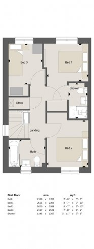 Knightsbridge Floorplan FF